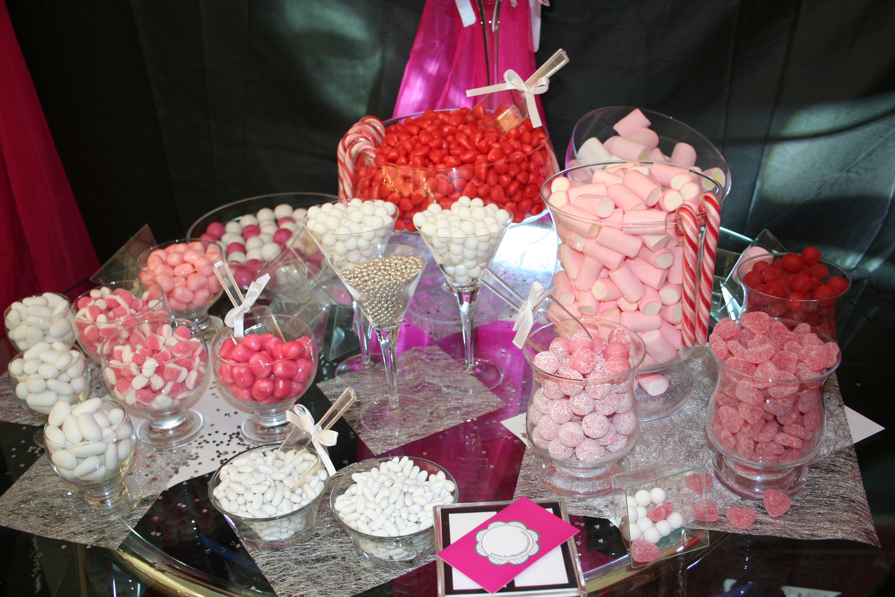Candy bar buffet de golosinas - Decoraciones para bar ...